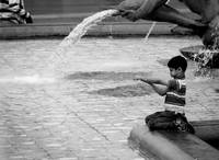 Boy and Dolphin in Paris Fountain