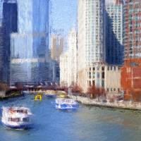 """Chicago River Impression"" by edbock"