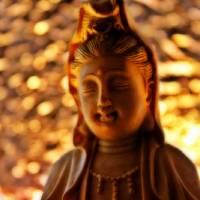Gold Kwan Yin by Through The Split Window