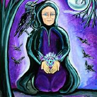 wisewomanandraven2b Art Prints & Posters by Jessica Ahlberg