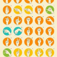American Sign Language Hand Alphabet Art Prints & Posters by Jazzberry Blue