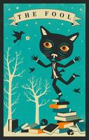 Tarot Card Cat - The Fool,