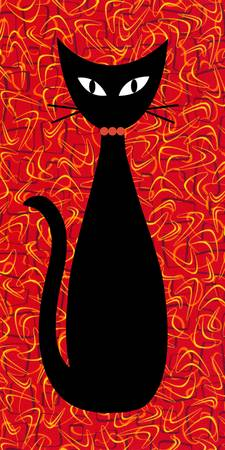 Boomerang Cat in Red