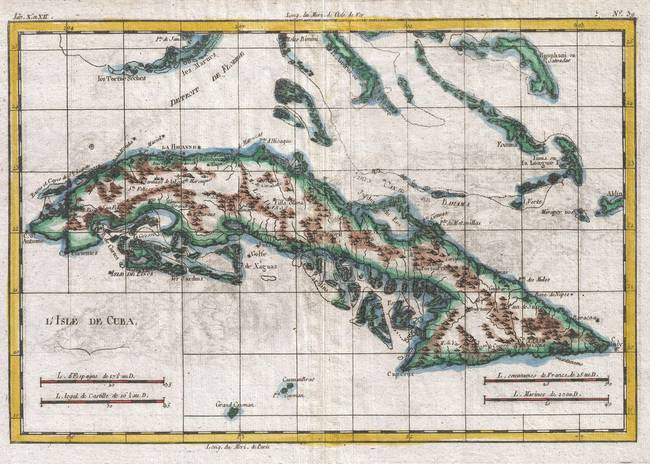 Stunning cuba pen drawings and illustrations for sale on fine art vintage map of cuba 1780 by alleycatshirts gumiabroncs Gallery