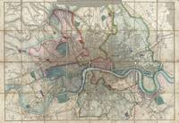 Vintage Map of London England (1852)