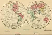 Vintage Map of The World's Religions (1883)