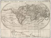 Vintage Map of The World (1621)