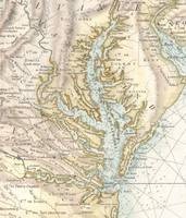 Vintage Map of The Chesapeake Bay (1778) 2