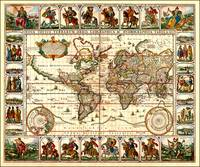 Vintage Map of The World (1652)