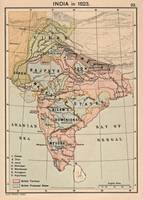 Vintage Map of India (1823)