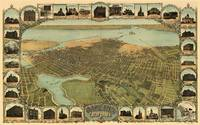 Vintage Pictorial Map of Oakland California (1900)