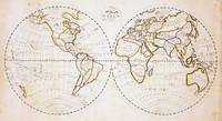 Vintage Map of The World (1811) 2