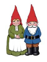 Gnome Couple, Fantasy Illustration