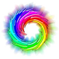 Hard Swirl Color Wheel in White