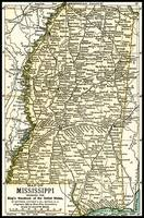 Mississippi Antique Map 1891