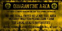 Grunge Quarantine Sign