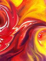 Hot Yellow And Red Abstract Flames