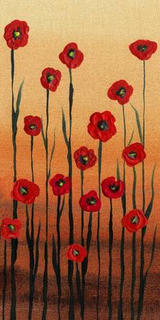 Poppy Flowers Decorative Painting