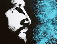 Forgiven Jesus Profile Painting