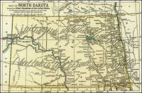 North Dakota Antique Map 1891