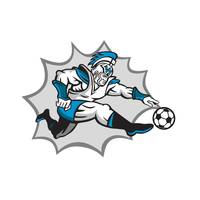 Roman Warrior Soccer Player Ball Retro