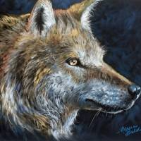 THE WOLF in PASTEL  by Marcia Baldwin