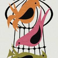"""""""Mid Century Birds"""" by DMibus"""