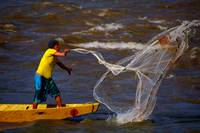 Native fisherman of Colombia