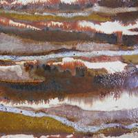 21. v2 Rustic Brown, Red and White Abstract