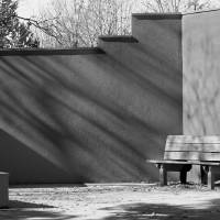 Bench Black and White by Karen Adams