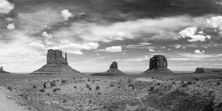 Monument Valley Daytime Panoramic B&W