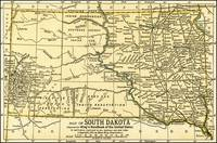 South Dakota Antique Map 1891