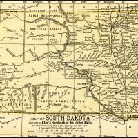 """South Dakota Antique Map 1891"" by WilshireImages"