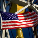 """American Flag Oil Rig Urban Industrial Art"" by Tulsa1000"
