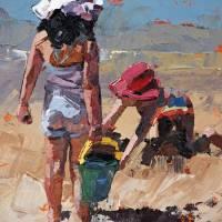 """Sandcastles Petite II"" by ClaireMcCallArt"