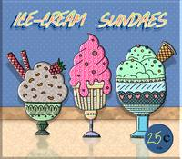 Ice-Cream Sundaes Sign