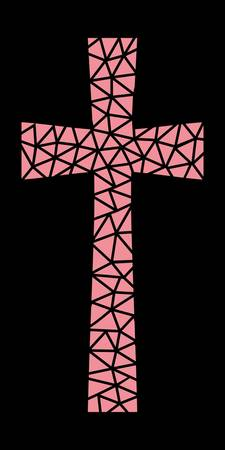 Mosaic Cross in Pink