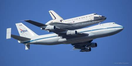 Space Shuttle Endeavor ferry flight to LA (3)