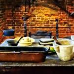 """Mortar and Pestles in Colonial Kitchen"" by susansartgallery"
