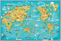 Illustrated Map of the World by Nate Padavick