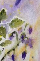Purple Dainties Watercolor Painting