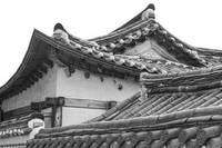 Architecture Of Bukchon Hanok Village BW