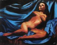 Fine Art Nude Multimedia Painting Tanya Sitting Re