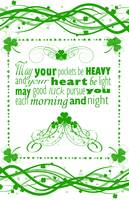 Irish Blessing with a border