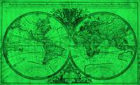 World Map (1691) Green & Black