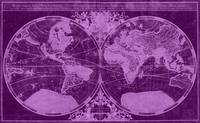 World Map (1691) Dark Purple & Light Purple