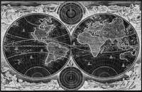 World Map (1730) Black & White
