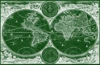 World Map (1730) Green & White