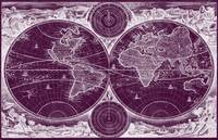 World Map (1730) Purple & White