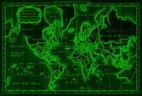 World Map (1766) Black & Green